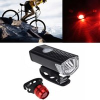Bike Lights Super Bright LED Bicycle Light Suit USB Charging Mountain Front And Rear Waterproof Cycling Safety Warning Taillamp