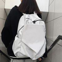 DCimor 새로운 방수 나일론 여성 배낭 대용량 솔리드 컬러 남성 여행 가방 유니섹스 대학 schoolbag 노트북 배낭