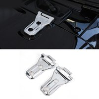 CarMango for Jeep Wrangler 2018-2021 Auto Car Accessories Engine Hood Door Hinge Frame Trim Cover Sticker ABS Carbon Decoration