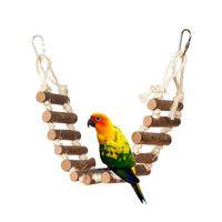 Kuşlar Evcil Papağan Merdivenler Tırmanma Oyuncak Asılı Naturals Halat Merdiven Kuş Halat Merdiven Oyuncaklar Eğlence Evcil Malzemeleri için