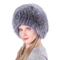 Women's Fox Fur Straw Hat Children Autumn And Winter Korean Vertical Bar Woven Fur Small Round Hat Ear Protection Fashion Warm