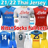 2021 2022 Napoli Futebol Jerseys Vende Versão do Jogador Maradona Maglietta da Calciatore Insigne 21/22 SSC Nápoles Maglia Homens Kit Kit Socks Conjuntos Completos Camisa de Futebol