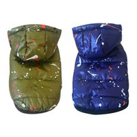 Dog Apparel 1PC Pet Jacket Cold Weather Costume Hoodeds Clothes Waterproof Thickening Warm Skiing Coat Cute Cotton Padded Hoodie