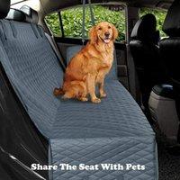 Krasivaya presigen الكلب غطاء مقعد السيارة ماء نقل الحيوانات الأليفة الناقل الكلب سيارة خلفية حامي حصيرة الأرزام للكلاب