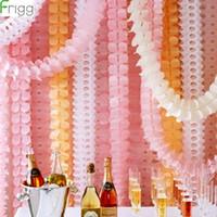 Party dekoration frigg 3,6m fyra bladklöver kranspapper banner rosa blå födelsedag bröllop bunting rum hängande