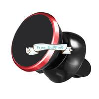 DHL stock Сильный магнитный автомобильный держатель воздуха вентиляционная установка на 360 градусов Универсальный держатель телефона для универсальных мобильных телефонов с розничной коробкой