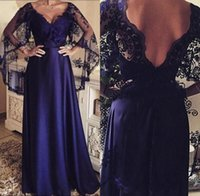 Party Dresses Navy Blue Mother Of The Bride Sheath With Lace Shawl Vestido Mae Da Noiva Women Formal Evening Long Gowns