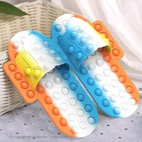 Fidget Shoes Press Bubble Slippers Push Toys Desktop Puzzle Silicone Decompression Toy Loafer