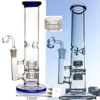 Tubo dritto narghilè ghiaccio pizzico olio dab rig rigadio matrice perc perc tubi di vetro di vetro 5mm Bangs di vetro spesso con giunto da 18 mm