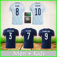 Scozia Casa Away Soccer Jersey 20 21 McGregor Robertson Fraser Naismith Christie Forrest McGinn Camicia da calcio Men Tshirts + Kid Kit Uniform