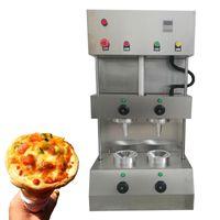 Alta qualidade pizza cone máquina desktop Dois guarda-chuva pizza fazendo máquina 110V 220v pizza cone formando máquina