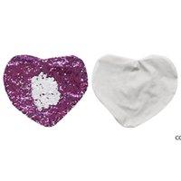 인어 베개 케이스 더블 컬러 스팽글 사랑 하트 쿠션 덮개 승화 빈 패션 pillowslip DHE7102