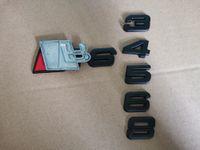 Toptan Çıkartması Araba Sticker Oto Metal 3D Amblemler Krom Rozetleri Tampon Çıkartmalar Siyah Gümüş RS3 RS4 RS5 RS6 RS7 S8 Araba-Styling için