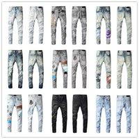 2021 Mode Skinny Mens Jeans Slim Elastic Jean Hommes Casual Viker Homme Stretch Denim Pantalon Classique Pantalons Jeans 686 Taille 28-40