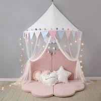 Tenda per zanzare Nordic Baby Crib Bambino Baldacchino Bed Bed Tenda per bambini Play Tent Teepee Baby Crib Zanzara Zanzariere Indoor Outdoor Home Decor