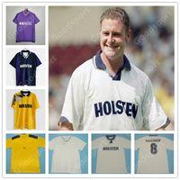 Retro 1982 Jerseys Nihai Futbol Futbol Gömlek Glenn Hoddle Ossie Ardiles Villa Gascoigne Falco Gibson Sahtekarlık Maillot de Foot Sıcak
