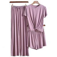 Pliktea pantolon, pantolon parçası gri kadınlar için atoff ev giysileri kadın pijama set kadın ev telleri takım elbise bayanlar pijama