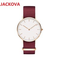 casual women men simple designer watches 40mm 36mm fashion dress famous design leather nylon strap quartz movement gift clock