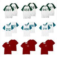 New 2021 Squid Game 3D T Shirt Women Men Summer Fashion Korean Li Zhengjae 456 Funny loose and comfortable Tshirt Graphic Tees Streetwear Cosplay Costume