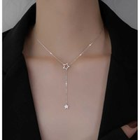 Designer Necklace Luxury Bracelet Christmas Gift 925 Sterling Silver Cute Shiny Star Choker Drop Charm s Charming Woman Wedding Party Birthday Jewelry
