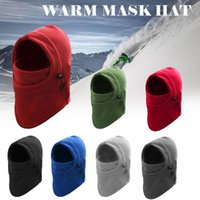 Outdoor Hats Winter Warm Fleece Beanies For Men Bandana Neck Warmer Caps Face Ski Mask Cap Special Forces Cold-proof Hiking Sports