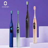 Versión global Oclean X Pro Sonic Cepillo de dientes eléctrico para adultos IPX7 Ultrasonic Cepillo automático Cepillo rápido Cepillo de dientes Pantalla táctil 210310