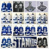 Tampa Körfezi Yıldırım 2020 Stanley Kupası Şampiyonlar Finalleri Hokey Formaları Steven Stamkos Victor Hedman Nikita Kucherov Vasilevskiy Ryan McDonagh