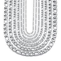 Joyería de titanio 304L Acero inoxidable NK1: 3 Cadena Hip Hop Versatile Men's Necklace Q80D