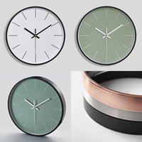 12 Inches Round Mute Digital Scale Wall Clock 3D Living Room Bedroom Walls Clocks Home Rooms Decor Hanging Punch ZXFEB1205