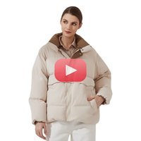 Womens Buffer Jacket Nova Moda Solta Patchwork Parka Sólida Quente Quente Ladies Streetwear Casaco de Inverno Roupas Femininas