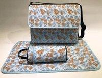 Imprimir Bolsas de pañales de alta calidad Bebé 3set Funda de botella Nappy Mochila para la venta Funcional Bolsa de hombro Diseñador Regalo