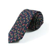 Yay Bağları Yüksek Kalite 6 cm Moda Rahat Erkekler Çiçek Baskı Desenleri Kravat Takım Skinny Ince Pamuk Boyun Kravat