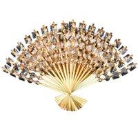 Lámpara de pared ventilador en forma de cristal LED luces LED europea Funky Steel Steel Sconce para tienda Foyer Dormitorio