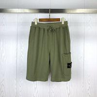 21ss весенние летние грузы шорты женщины военный стиль хлопчатобумажные мужчины много карманные повседневные компас значок вышивка 030205