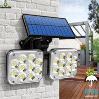 Сплит Интегрированный солнечный настенный свет 138LED 171COB 120LED PIR датчик движения 3 режима освещения IP65 водонепроницаемая лампа безопасности