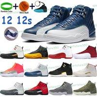 Top 12 Basketbol Ayakkabı 12 S Erkek Spor Sneakers Üniversitesi Altın Indigo Siyah Koyu Concord CNY Kiraz Spor Salonu Kırmızı Yüksek Eğitmenler Anahtarlık