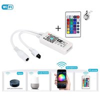 Dimmers Smart LED 5 Pin RGBW WiFi and IR Remote LED Strip Light Controller,LED Pannel Light,Compatible with Amazon Alexa,Google Home,IFTTT