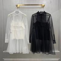 214 XL 2021 Ücretsiz Kargo Bahar Uzun Kollu Yaka Yaka Örgü Yüksek Kalite Elbise Moda En Elbise Bayan Giysileri Lei