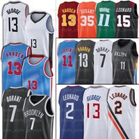 NCAA 7 Kevin 11 Kyrie Durant Irving Basketball Jerseys 13 Harden 2 Kawhi 13 Paul Leonard 34 Giannis George Antetokounmpo Jersey