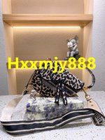 2021 Noticias Alta Calidad Lujos de Mujeres Diseñadores Sexy Bags Leopard Print Saddle Pouch Cosmetic Niza Bolsa de maquillaje Casos Mujeres Touchos Transmision Travel Clutch Bolsos Bolsos