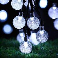 LED Crystal Ball Solarlicht Outdoor Wasserdichte String Fairy Lampen Solar Garten Girlanden Weihnachtsdekoration Beleuchtung