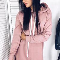 Women's Hoodies & Sweatshirts 2021 Long Women Autumn Winter Causal Loose Tops Cotton Solid Clothing For Female Plus Size Sweatshirt