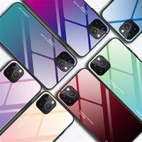 الحالات الزجاجية المقسى للتدرج ل iPhone11 12 7 7P 8Plus x xr xs ماكس غطاء الهاتف واقية fundas