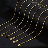 Chains Knotty High Rising Bamboo Link Pendant With Chain Necklace 24K Gold Copper Alloy Wedding Banquet Bridal Jewelry Gift