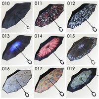 C Handle Inverted Umbrellas Non Automatic Protection Sunny Umbrella Paraguas Rain Reverse Special Design NHB8589