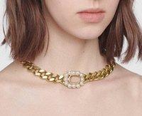 Vendita calda moda iniziale lettera girocollo collana Bijoux catene per lady womens party wedding amanti regalo gioielli con scatola LZ316