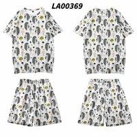 Men's T-Shirts Oversize 4XL Men Women Cute Hedgehog Print Short Sleeve T Shirt Hip Hop Loose T-Shirt And Shorts Set Streetwear