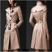 Women's Trench Coats Womens Coat Spring European And American Trend Double-breasted Slim Long Women