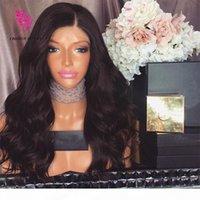 150 Densidad 4x4 Sin glóvía Top de seda llena de encaje de encaje Wave Brasileño Virgin Hair Seda Top Full Encaje Pelucas de cabello humano para mujeres negras