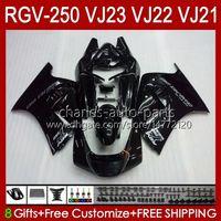 OEM Bodywork para Suzuki RGVT RGV 250 CC RGV250 SAPC VJ23 COWLING RGV-250CC Body 107HC.72 Stock CUENTA ALL BLACK RGVT-250 VJ 23 RGV-250 Panel 97 98 RVG250 250cc 1997 1998 Kit de carenización